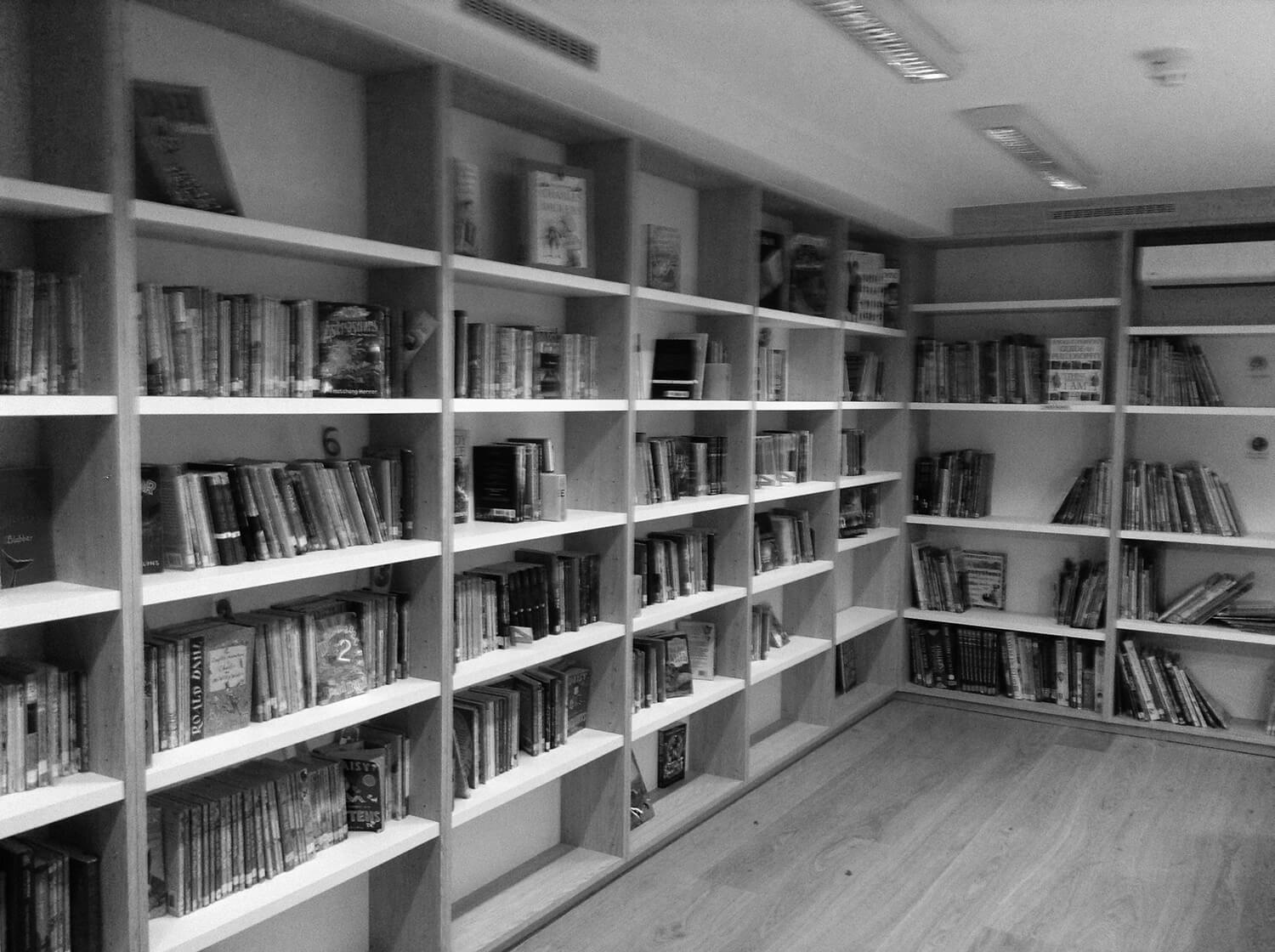 The library is also available for parents.